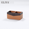 Hotel Modern Wholesale Customized Leather Wooden Tea Box