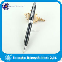 High end black one piece metal pen