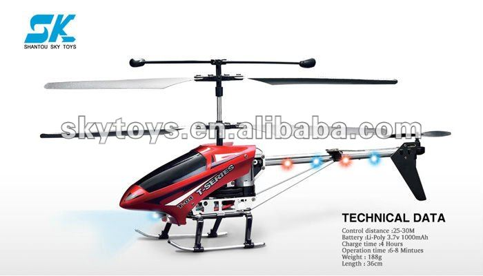 !Hot!!!!!!!! MJX T04 3CH 36CM Shuttle Helicopter Metal Frame 3CH RC Helicopter w/ Gyro 3D Full Flight+LED 3d rc helicopter