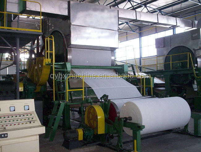 2400mm model a4 copy paper making machine production line for sale
