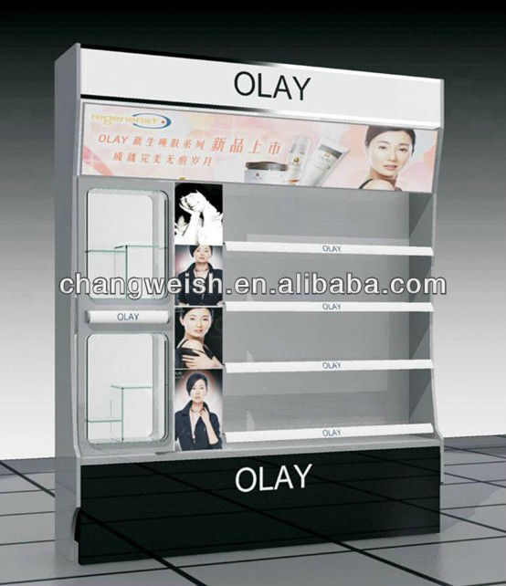 OlAY fashion makeup stand shop display furniture for cosmetics