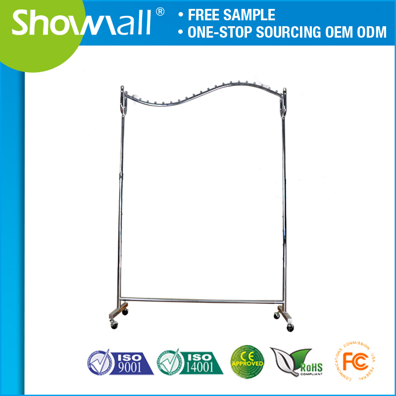 Commercial merchandise display hanger clothes racks stand for shop