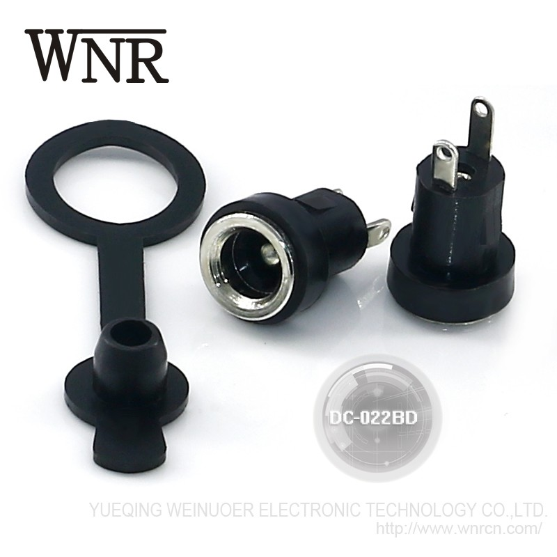 New arrival WNRE female dc jack connector 3 pin DC-022BD waterproof DC Power Jack