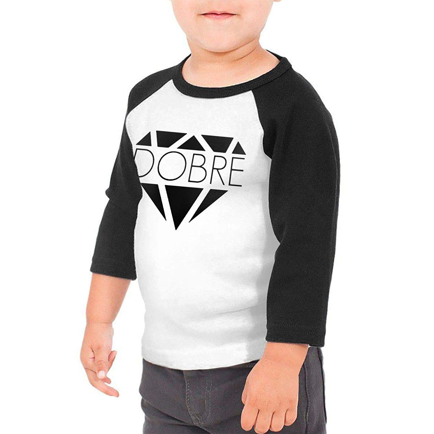 193315f0fa3 Get Quotations · Dobre Brother Logo Baby Boys Girls 3 4 Sleeve Baseball Tee  Tops