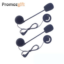 2 PCS Earphones Accessory for FDC-VB Celular Moto BT Bluetooth Motorcycle Interphone Helmet Intercom Headset