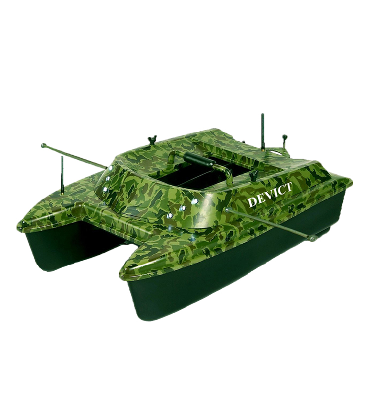 Hot selling DEVC-308 high speed DEVICTautopilot carp fishing ABS Lead Accumulator bait boat with fish finder