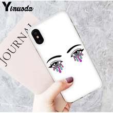 Yinuoda макияж ресниц подмигивает красивая девушка Эстетическая Красота Чехол для телефона для iPhone8 7 6 6S Plus X XS MAX 5 5S XR 10 11 11pro 11promax(Китай)