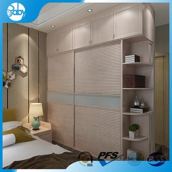 L Shaped Modular Bedroom Wall Wardrobe Closet Design