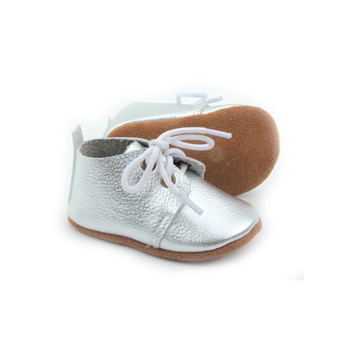 Hot Selling Classic Style Unisex Silver Cheap Baby Oxford Shoes