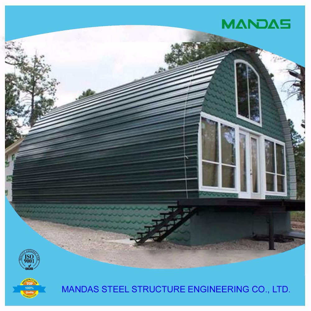 China prefab arched villa prefabricated wooden house