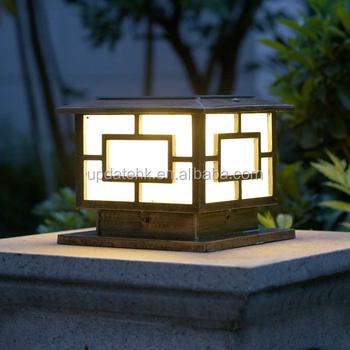 Ultra Bright Fence Light Solar Pillar Lamp Door Post