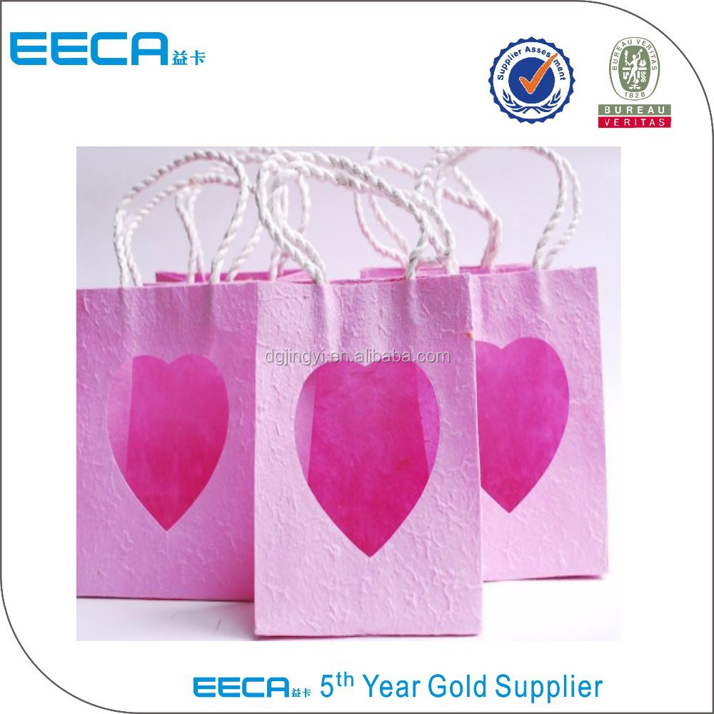 Wedding Gift Recycled Shopping Paper Bag With Heart Shape Window ...