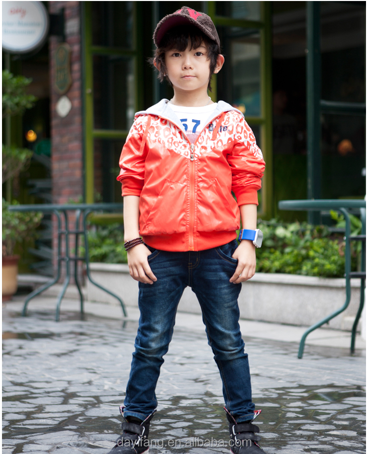 Boys Winter Casual Double Side Short Jackets Coat With Cap
