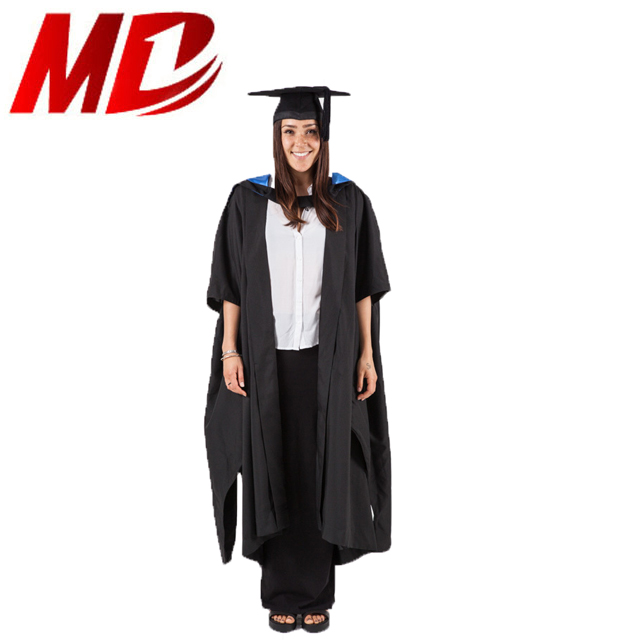 University Master Degree Uk Graduation Gown In Traditional Style ...