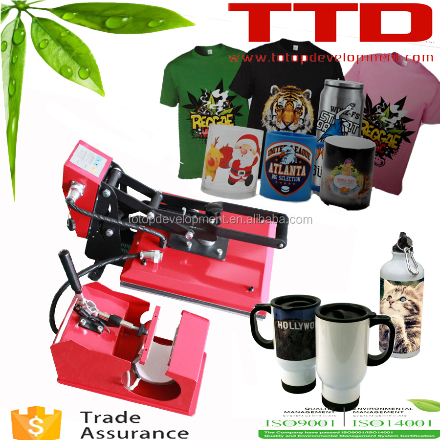 2 In 1 Combo Heat Transfer Machine Sublimation/Heat Press Machine For bottles /Mug/TShirt /Phone case
