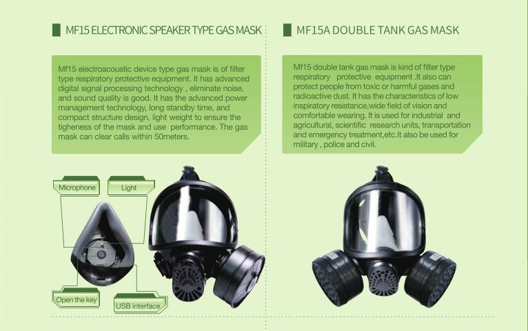 MF15A DOUBLE TANK GAS MASK
