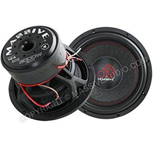 Massive Audio SUMMOXL124 - 12 Inch Car Audio 3000 Watt SUMMOXL Series Competition Subwoofer, Dual 4 Ohm, 2 Inch V.C