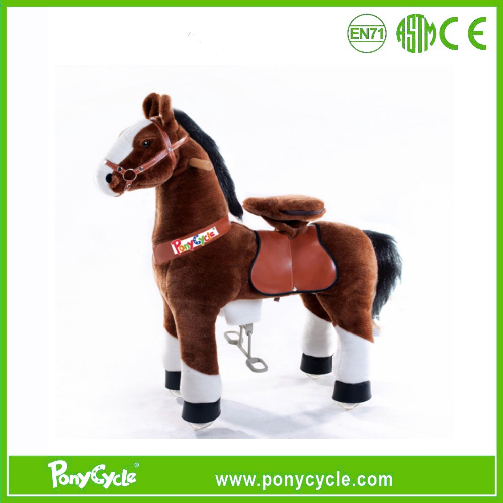 Pony cycle 2016 hot sale human power large rocking horse for 3-5 ages kids walking toy pony