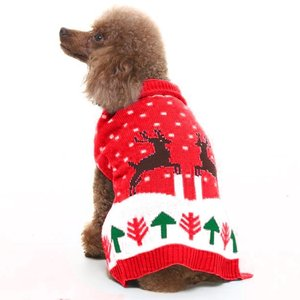 High Quality Dog Winter Knit Reindeer Pet Dog Christmas Sweater