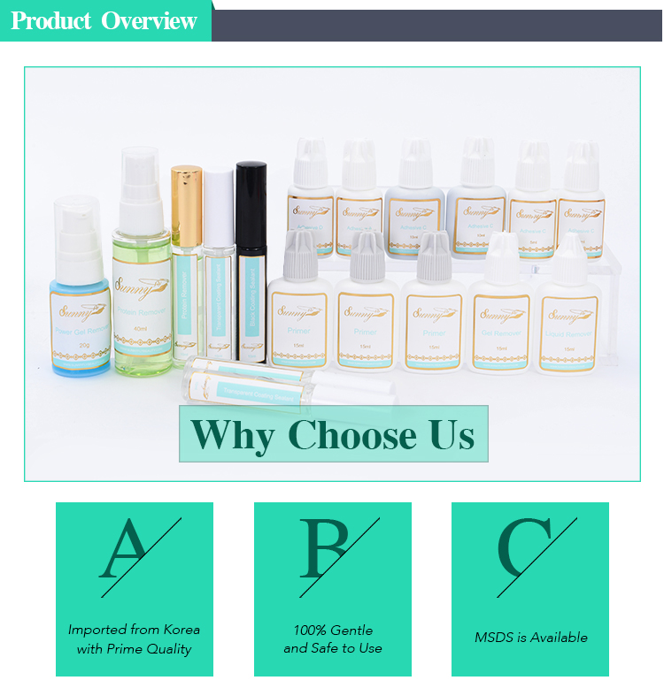 Groothandel professionele clear korea private label wimper extension lijm