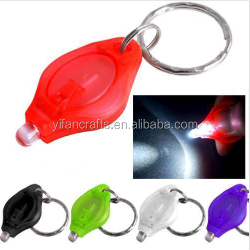 LED Keyring Torch Key Chain Ring flashlight Outdoor Tool White Light Bright