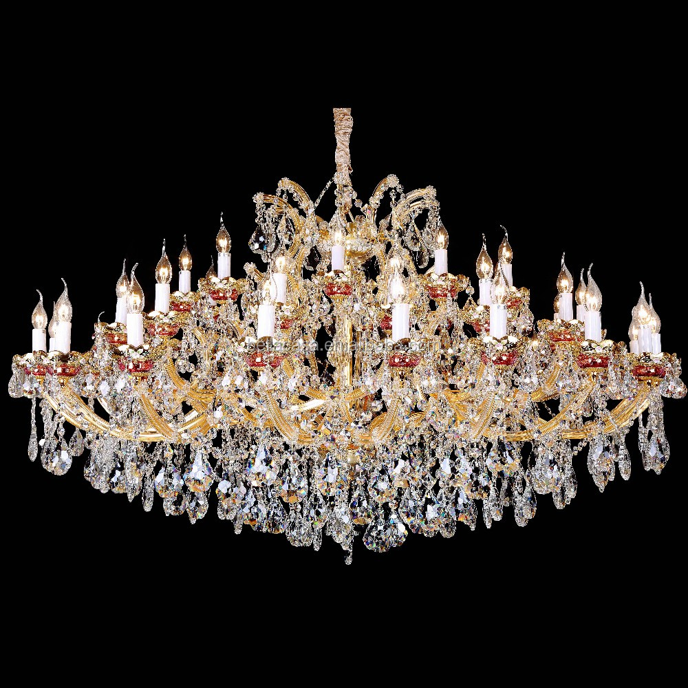 Modern Hanging european glass crystal chandelier parts With CE UL Certificate