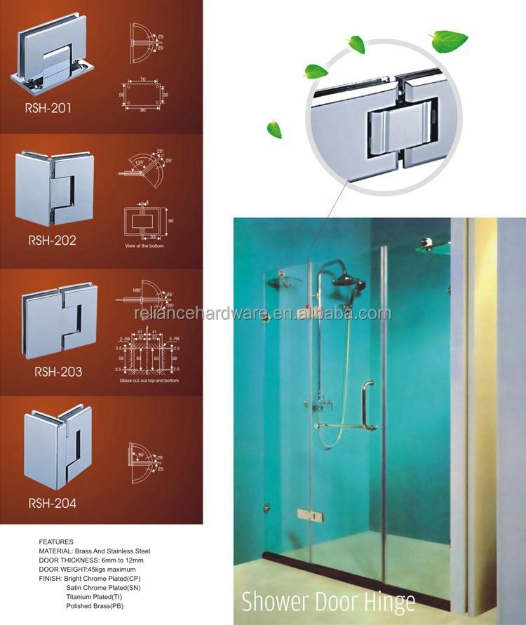 American Popuplar Framed Glass Shower Door Hinges With
