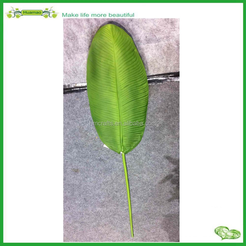 quality real touch plastic banana leaves artificial banana leaf