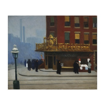 Free Shipping Edward Hopper Giclee Canvas Print Paintings Poster Reproduction Fine Art Wall Decor(New York Corner)