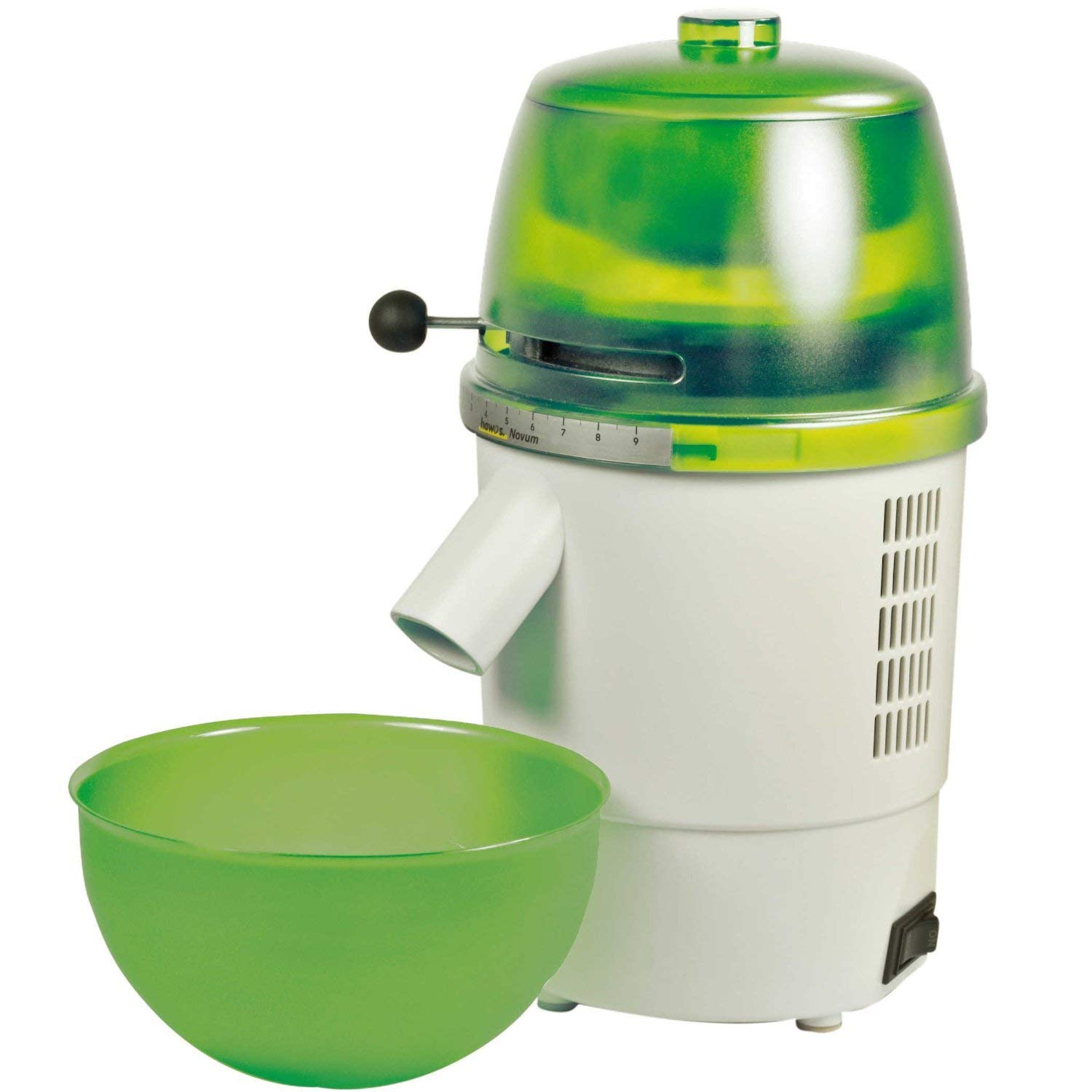 Hawos Novum Grain Mill with Funnel and Bowl Color: Green 220-240 Volt