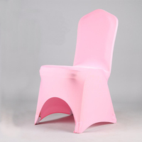 Wedding arch chair cover pink spandex chair cover