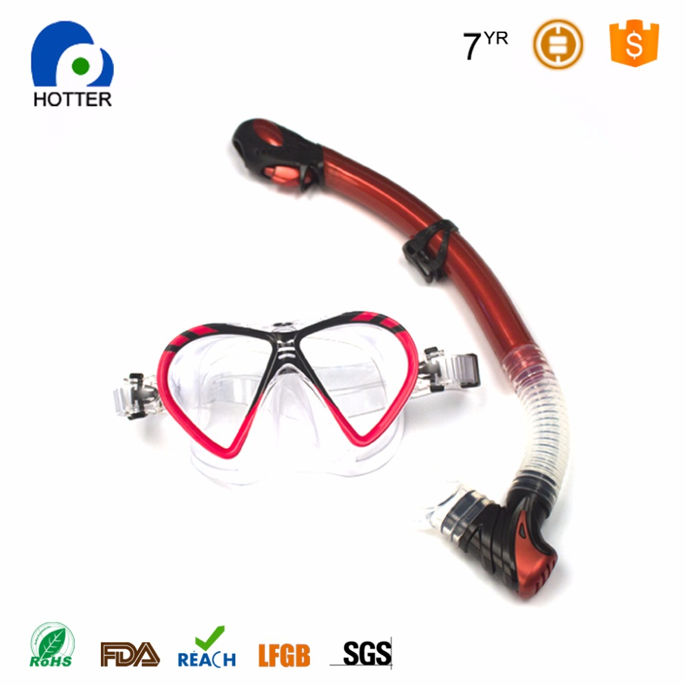 silicone diving equipment tempered glass mask swimming snorkel set