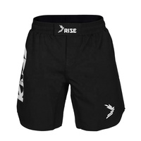 Black custom logo jiu jitsu fight shorts mma short grappling shorts