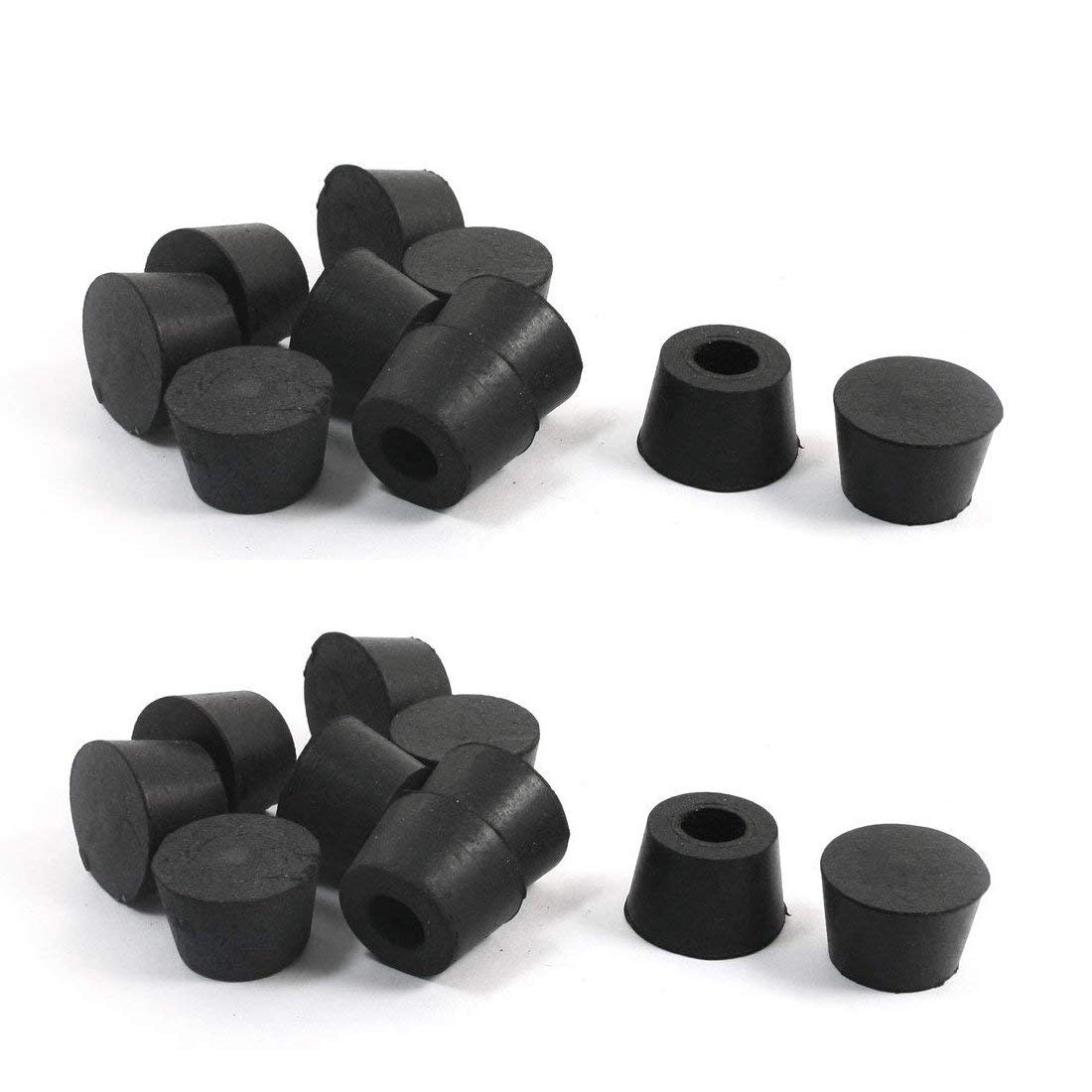 Furniture Legs 20pcs Rubber Instrument Case Feet Bumper 25mm X 13mm Furniture