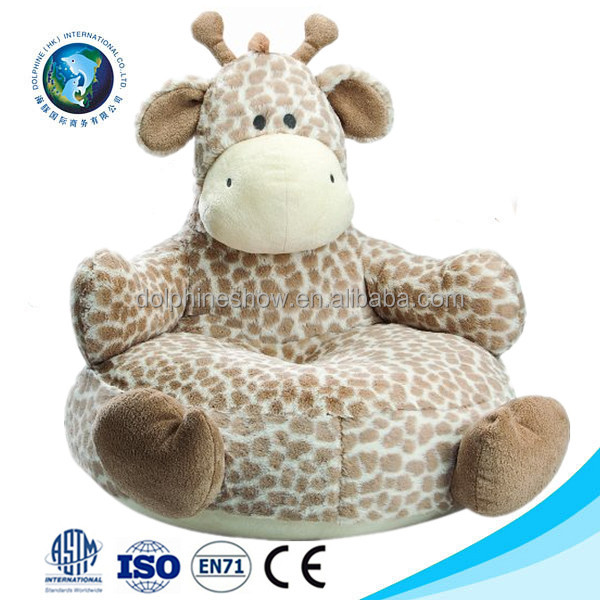 Supplier plush animal chair plush animal chair wholesale for Personalized kids soft chairs