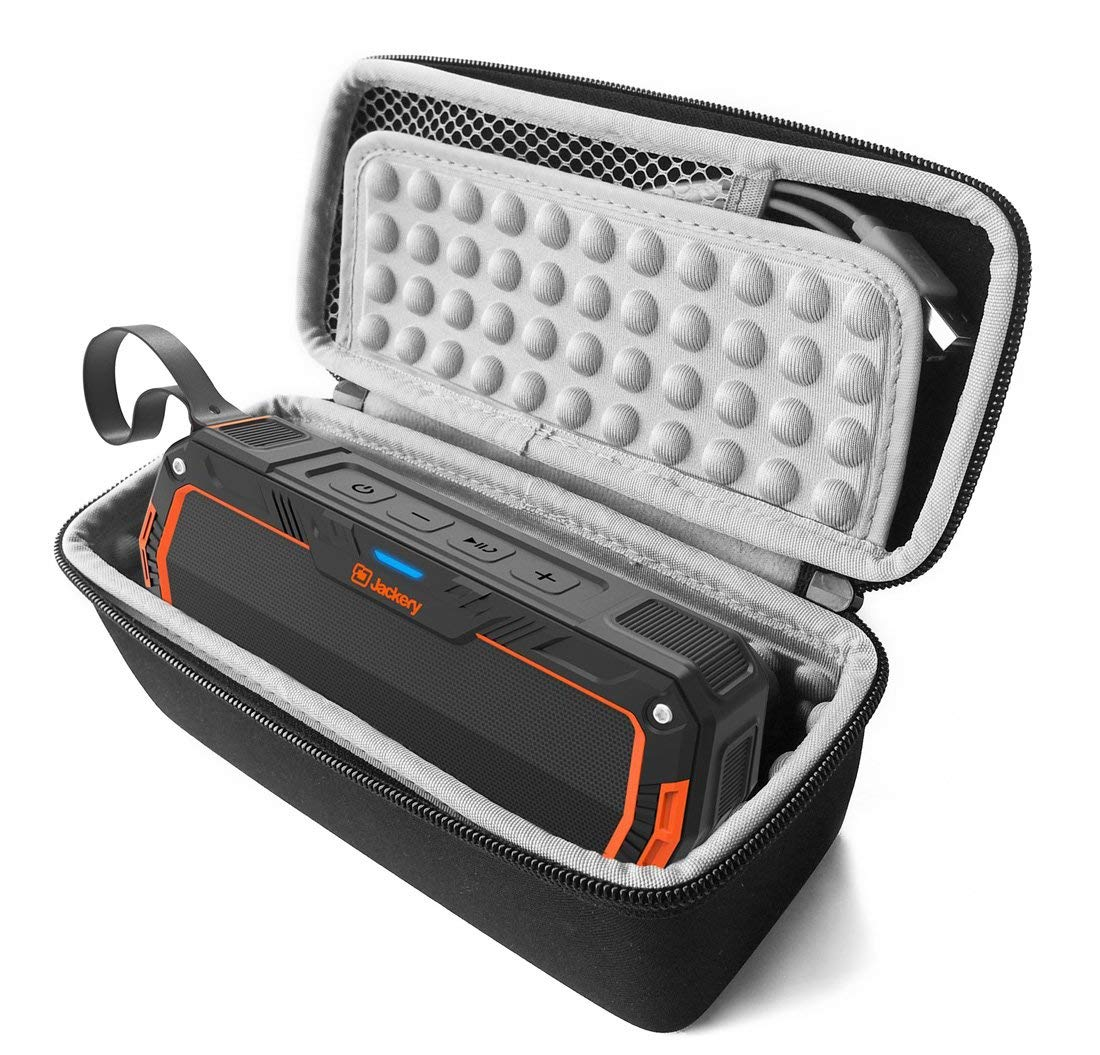 FitSand (TM) Carry Travel Zipper Protective EVA Storage Hard Case Box Bag for Jackery Boom 4.1 Wireless Bluetooth Speaker