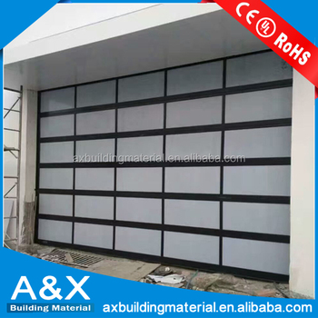 Modern House Security Insulated Aluminum Glass Garage Door Or