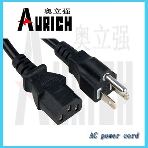 power wire color code NEMA 5-15P 110V PLUG i sheng power cord
