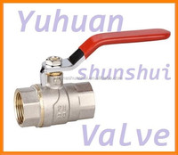 high quanlity forged CW617N brass ball valve 600 wog water red lever handle
