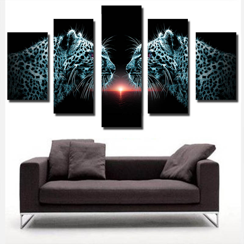 Large Canvas Wall Art 5 Pieces Canvas Oil Painting Unframed Modern Art <strong>Pictures</strong>