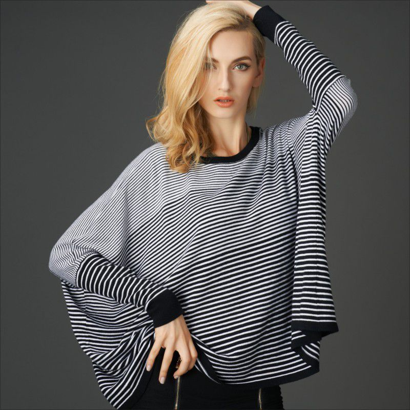 2016 New Autumn and font b winter b font European style women s round neck loose