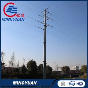 Super quality stylish galvanized transmission steel pole