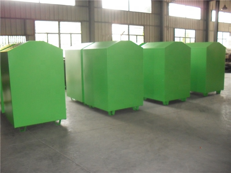 Discount steel clothes collection donation recycling bin cabinet