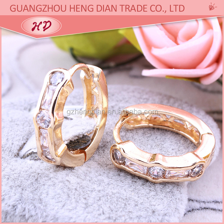Elegance style design Circle Round small gold earrings for women ...