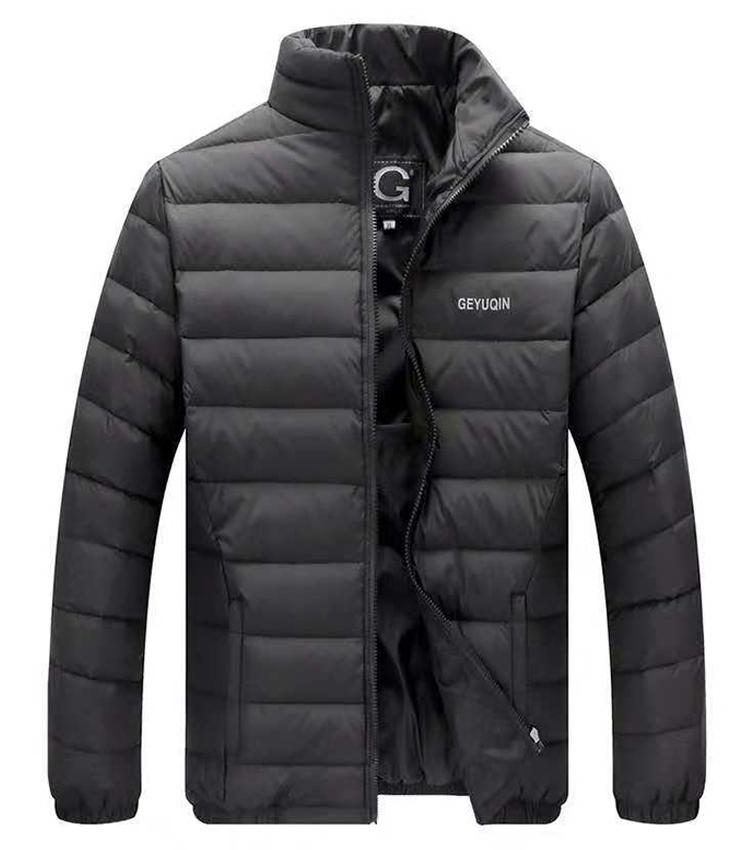 Men's collar down jacket dad wear winter new style ultralight down jacket, Picture