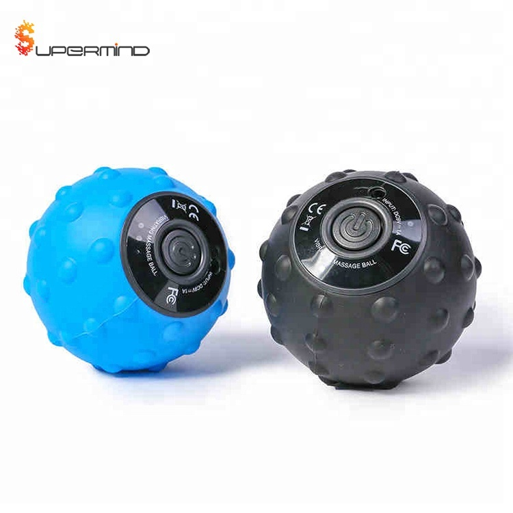Custom Rechargeable Silicone Heated Electric Muscle Massage Vibrating Ball With Logo