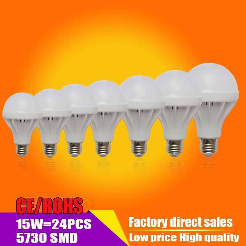 Wholesale led bulb E27 3W 5W 7W 9W 12W 15W 20w led lamp B22 110V 220V
