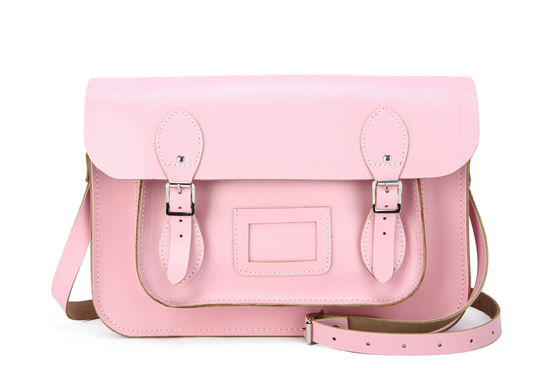f2b0466fb288 Get Quotations · Baby Pink 13   Leather Satchel Natural Leather Purse  Womens Pastel Pink Handmade Cross Body