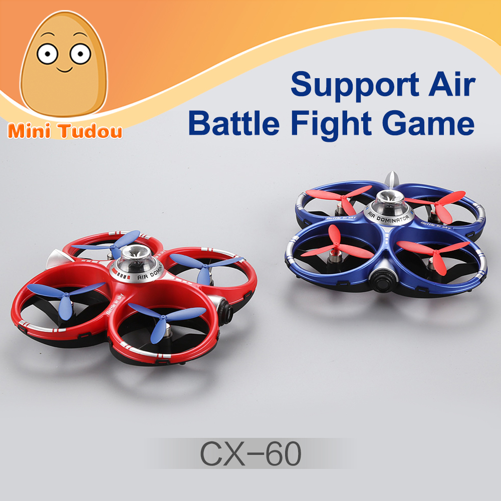 Minitudou 2017 New Product CX-60 Infrared Shooting Parent-child Fighting Games Phone Wifi Battle Drones In The Sky
