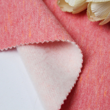 Combed one side brushed knitted TC 65/35 cotton french terry fleece fabric for cloth
